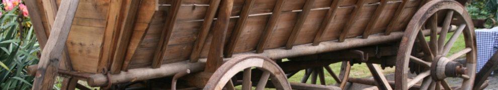 Kompletter Bauernwagen als Meisterstück des Wagners Heinrich Krieg aus dem Jahr 1948