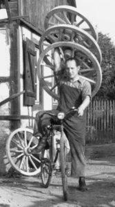 Heinrich Krieg, Wagnermeister, Rotenfels, 1954